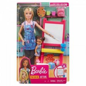 Lalka Barbie Kariera Zestaw Nauczycielka Plastyki