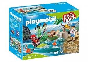 Playmobil Zestaw figurek Starter Pack Kurs pływania kajakiem