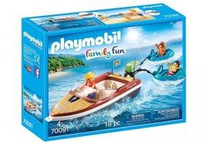 Playmobil Zestaw figurek Łódź motorowa z pontonami