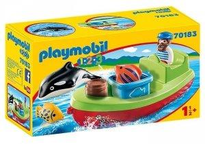 Playmobil Zestaw figurek 123 Marynarz z łodzią rybacką