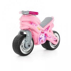 WADER-POLESIE Jeździk motor różowy