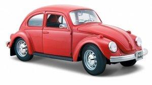 Maisto Model metalowy Volkswagen Beetle czerwony 1:24