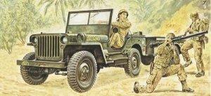 Italeri Willis MB Jeep with Trailer