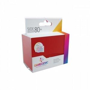 Pudełko Leżące Plastikowe na 80+ kart Czerwone