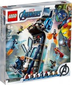 Klocki Super Heroes Walka o Wieżę Avengersow 76166