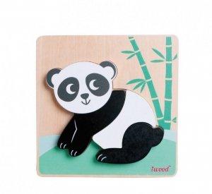iWood Ukladanka drewniana zwierzątka Panda