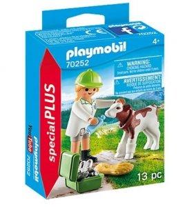 Playmobil Figurki 70252 Pani weterynarz z cielaczkiem