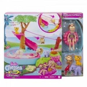 Mattel Lalka Barbie Chelsea Wakacyjna przygoda w basenie Zestaw