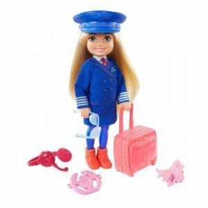 Mattel Lalka Barbie Chelsea Kariera Lalka  Pilotka