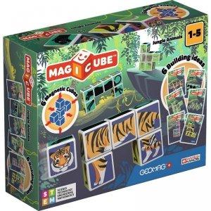 Geomag Klocki magnetyczne Magicube Printed Dżungla + Karty