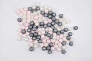 MISIOO Piłki do basenu srebrna, perłowa, różowa jasna