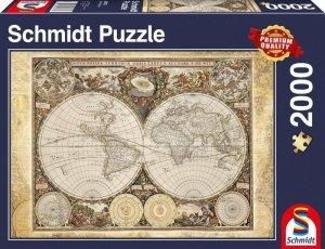 Schmidt Puzzle 2000 elementów Historyczna mapa świata