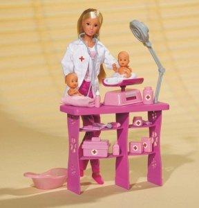 Simba STEFFI Pediatra z dwoma niemowlakami