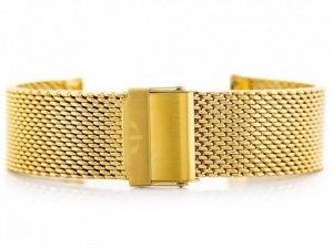 Bransoleta Bisset (bb010b) - złota 22mm