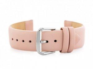 Pasek skórzany do zegarka W76 - różowy - 22mm