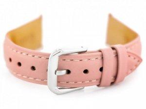 Pasek skórzany do zegarka W94 - jasnoróżowy - 18mm