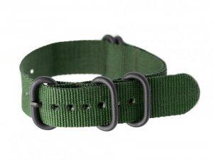 Pasek NATO parciany do zegarka - zielony - 20mm