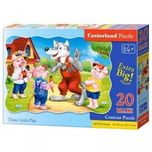 Puzzle 20el.maxi three pigs