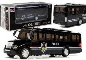 Model Autobusu Bus Policyjny Świeci Czarny