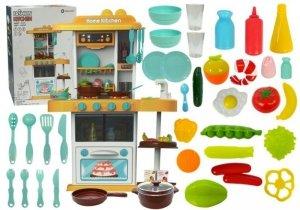 Kuchnia pomarańczowa dla dzieci 38 elementy para wodna