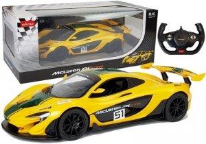 Auto R/C McLaren P1 GTR Rastar 1:14 Żółte na pilota
