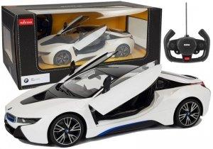 Auto R/C BMW i8 Rastar 1:14 Biały Drzwi Automatyczne