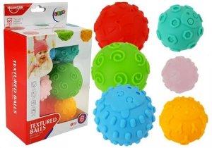 Piłki Sensoryczne Kolorowe Kule dla Niemowlaka 6 szt