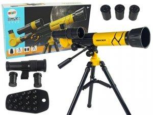Teleskop Naukowy Edukacyjny Z Uchwytem Na Telefon Żółty