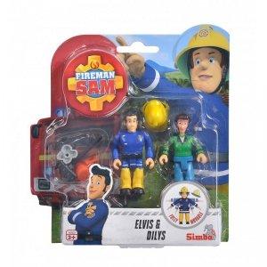 Simba Figurki Strażak Sam Elvis i Dilys z akcesoriami