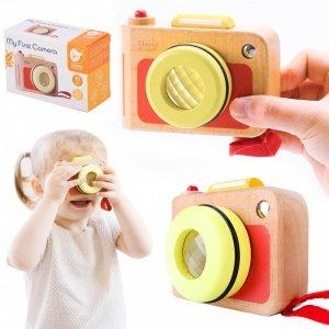 Aparat Fotograficzny  dla Dzieci Classic World Drewniana Zabawka z Soczewką