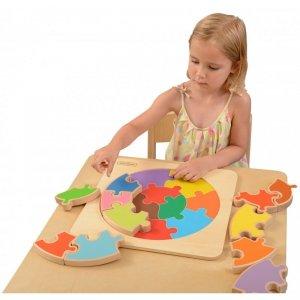 Ogromne Puzzle Okrągła Układanka Kolorowa Masterkidz