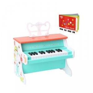TOOKY TOY Pianino Muzyczne dla Dzieci Nauka Gry + Książeczka