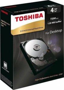 Toshiba X300 4TB 7200 RPM, 4000 GB, 3.5 inch, HDD, 128 MB