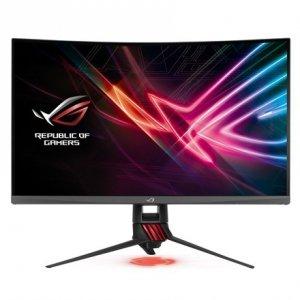 Asus ROG Strix Gaming LCD XG27VQ 27 , VA, FHD, 1920 x 1080 pixels, 16:9, 4 ms, 300 cd/m², Dark gray, Red, Curved, 144Hz, Extrem