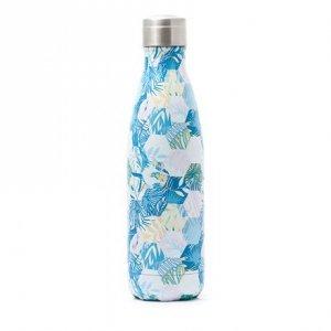 Yoko Design Isothermal Jungle Bottle White/ blue, Capacity 0.5 L, Diameter 6.5 cm, Bisphenol A (BPA) free