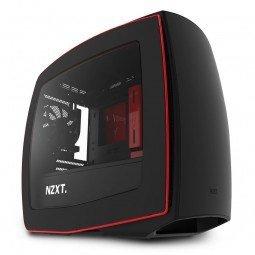 NZXT Manta Side window, USB 3.0 x2 Audio x1 MIC x1, black/red, Mini-Tower, Power supply included No