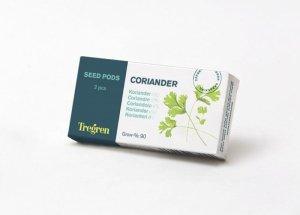 Tregren Coriander, 2 seed pods, SEEDPOD07