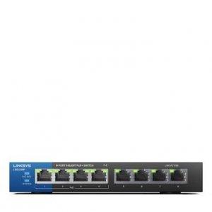 Linksys Swicth LGS108P Unmanaged, Desktop, 1 Gbps (RJ-45) ports quantity 8, PoE+ ports quantity 4, Power supply type External