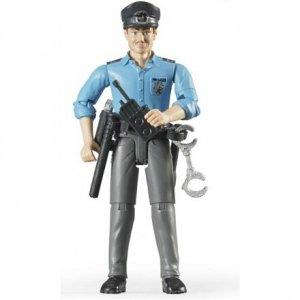 BRUDER Policeman, light skin, accessories, 60050