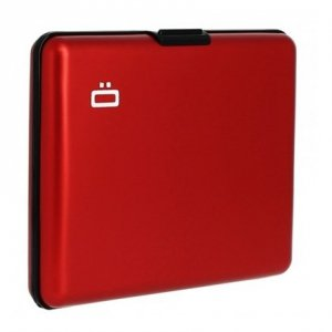 Ögon Big Stockholm 95 g, Red, Aluminium, Wallet / Credit card holder in aliuminium, RFID Safe : protects your cards from electro