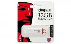 Kingston DataTraveler I G4 32 GB, USB 3.0, Red/White