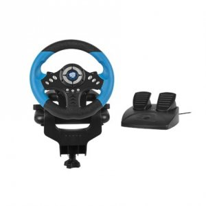 Fury Skipper Driving Wheel, Black/Blue