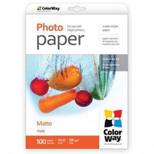 ColorWay Matte Photo Paper, 100 sheets, 10x15, 190 g/m²
