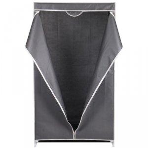 Szafa tekstylna garderoba ciemny szary 80x50x160cm
