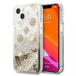Guess Peony Liquid Glitter - Etui iPhone 13 (złoty)