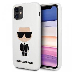 Karl Lagerfeld Fullbody Silicone Iconic - Etui iPhone 11 (White)