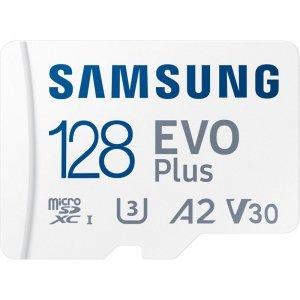 Samsung microSDXC EVO Plus - Karta pamięci 128 GB UHS-I / U3 A2 V30 z adapterem
