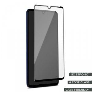 PURO Premium Full Edge Tempered Glass Case Friendly - Szkło ochronne hartowane na ekran Huawei P30 Pro (czarna ramka)