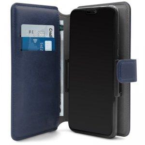 PURO Universal Wallet 360° - Uniwersalne etui obrotowe z kieszeniami na karty, rozmiar XL (granatowy)