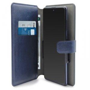 PURO Universal Wallet 360° - Uniwersalne etui obrotowe z kieszeniami na karty, rozmiar XXL (granatowy)